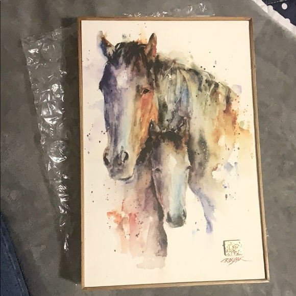 Horses Watercolor